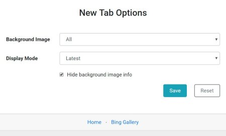 Bing New Tab Background - Replacing new tab blank page with